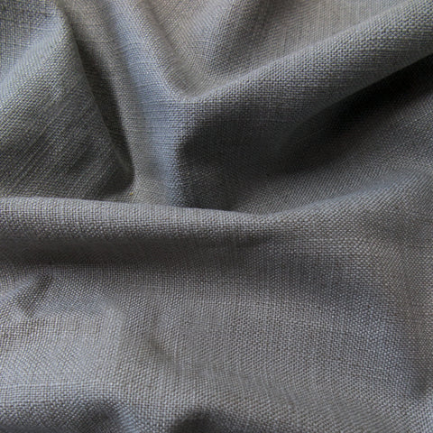 Medium grey linen fabric swatch