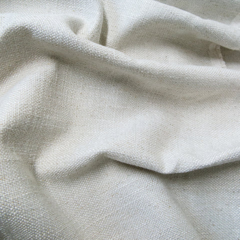 Off-white linen fabric swatch