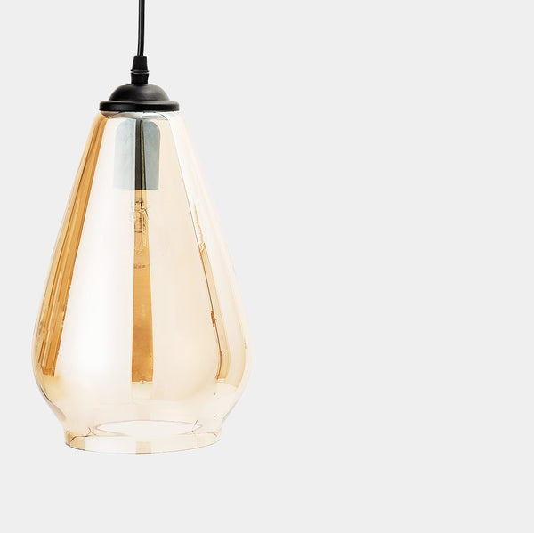 Tinted glass pendant lamp