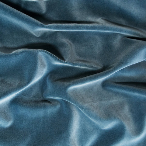 Petrol velvet fabric swatch