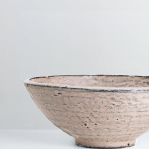Handmade blush pink glazed bowl
