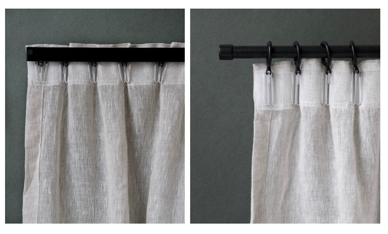 Gotain grey sheer linen curtain