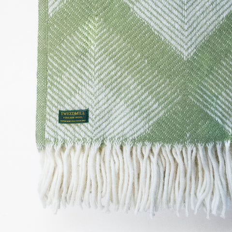 Prism fern green New Wool Throw