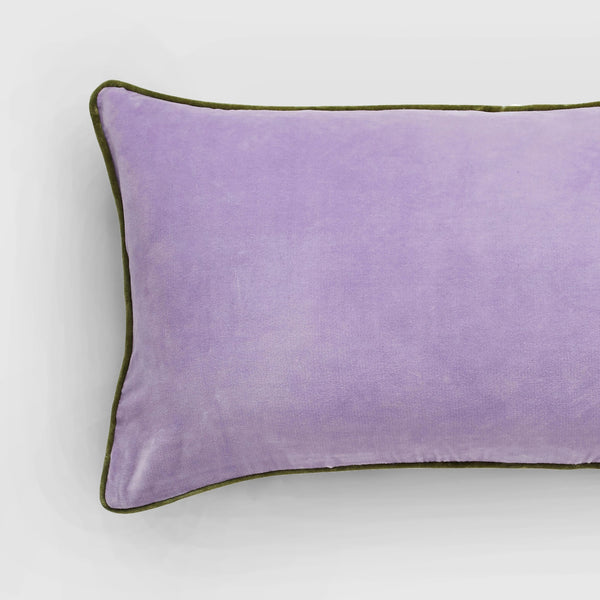 Handmade rectangle lavender velvet Cushion