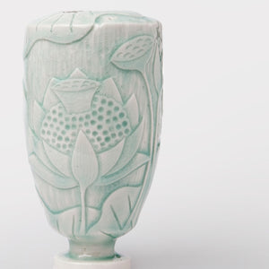 Handmade Carved vase by Caro Gates