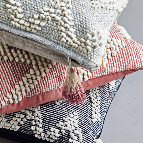 Handmade Square dhurrie grey textured Cushion