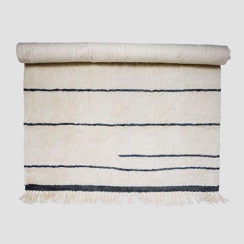 Large wool stripe rug