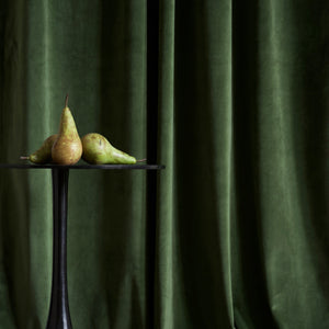 Gotain forest green velvet curtain