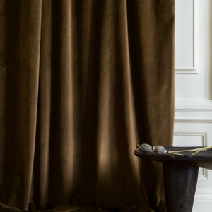 Gotain coffee brown velvet curtain