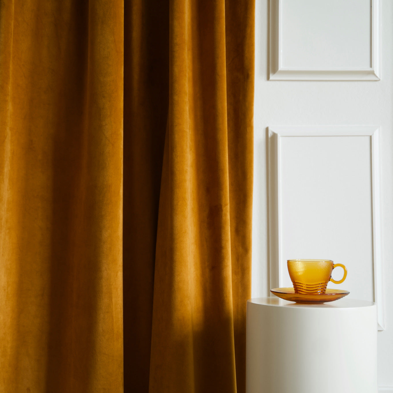 Gotain rust velvet curtain