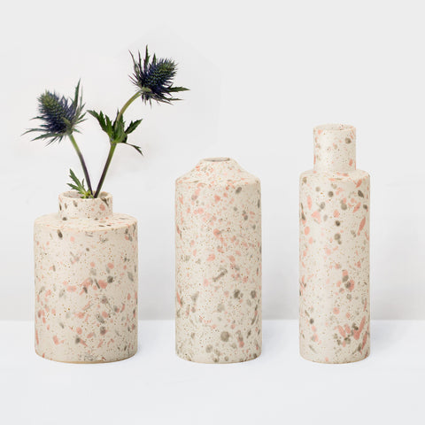 Three Stoneware natural glazed vases (last 1)