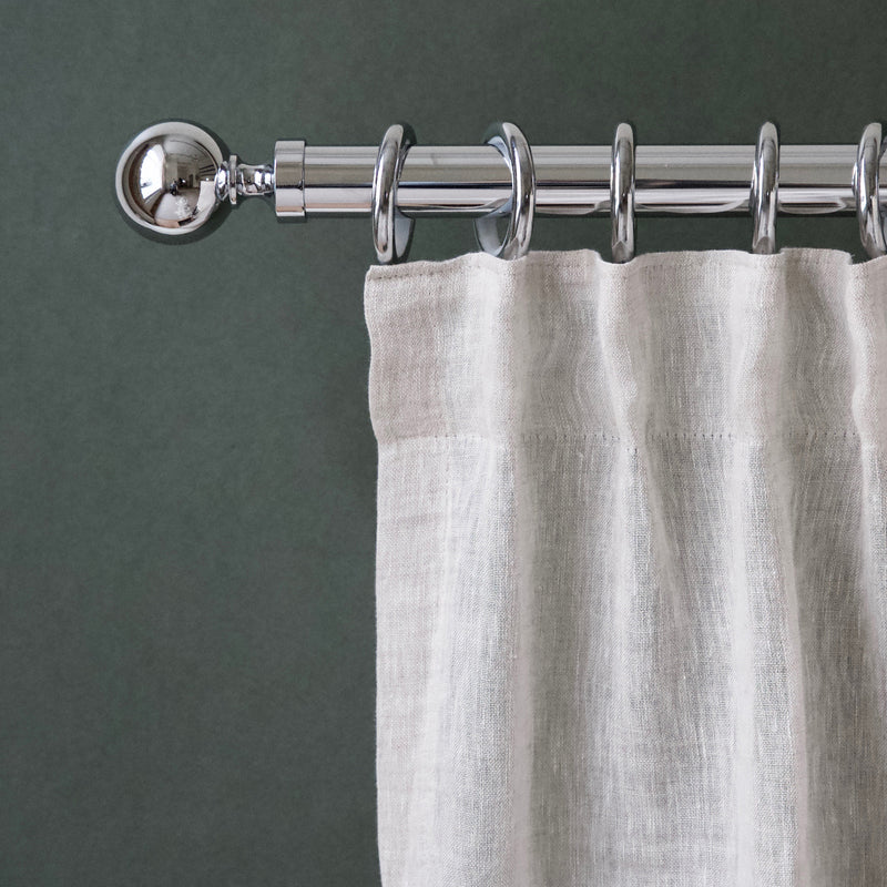 Metal classic curtain pole and rings