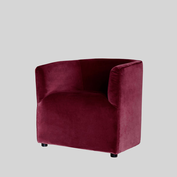 Vivi ruby red velvet armchair