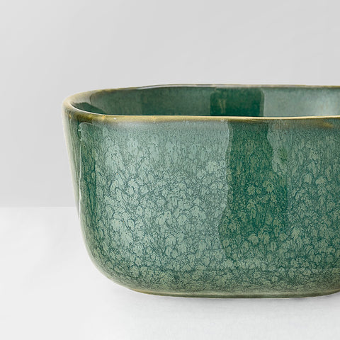 Handmade sea green glazed bowl
