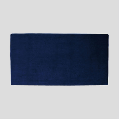 Bella deep blue velvet headboard