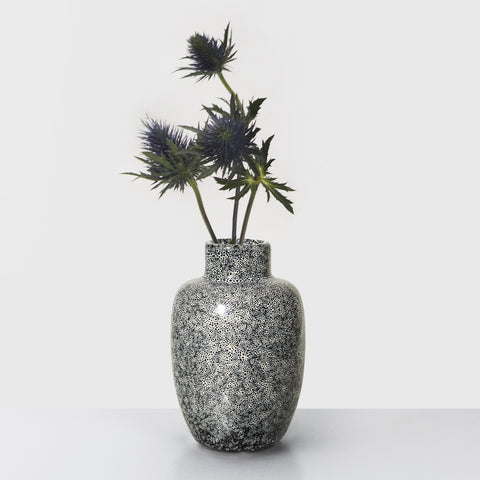 Black speckle glazed Stoneware vase (1 left)