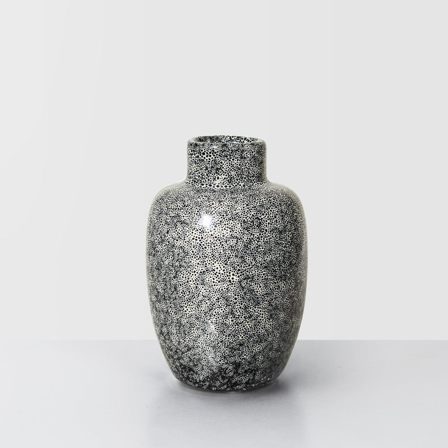 Black speckle glazed Stoneware vase