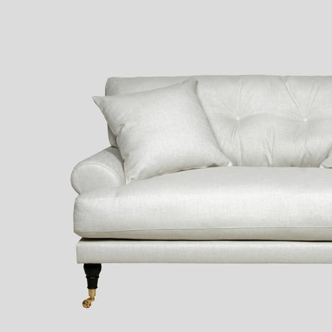 Blanca off white linen sofa