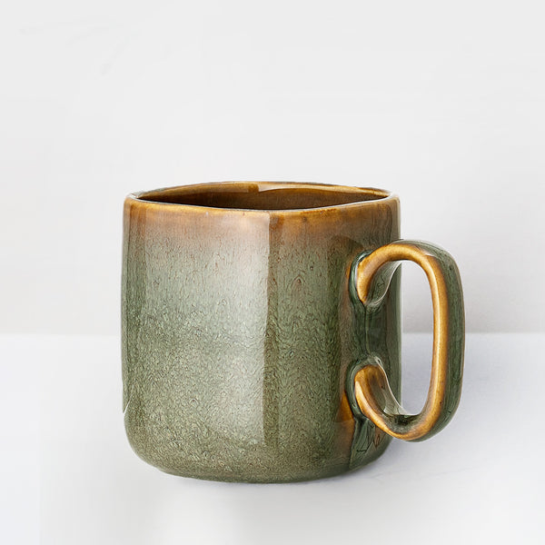 Large Handmade earth glazed mug