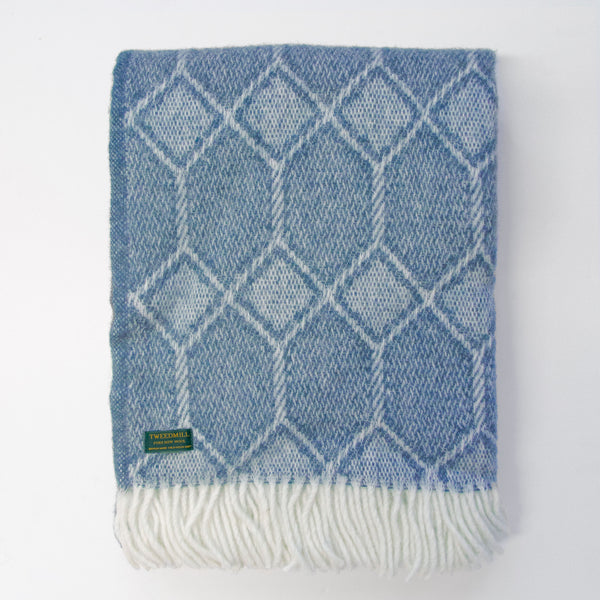 Churchpane petrol New Wool Throw (Last 1)