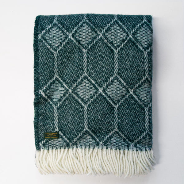 Churchpane Emerald New Wool Throw