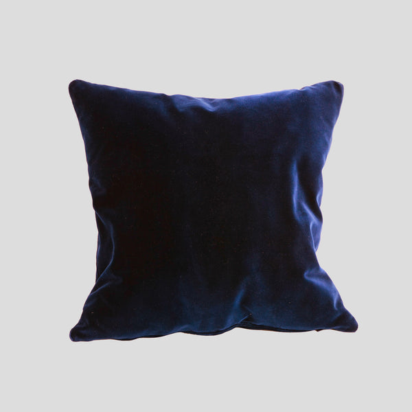 Deep blue velvet cushion