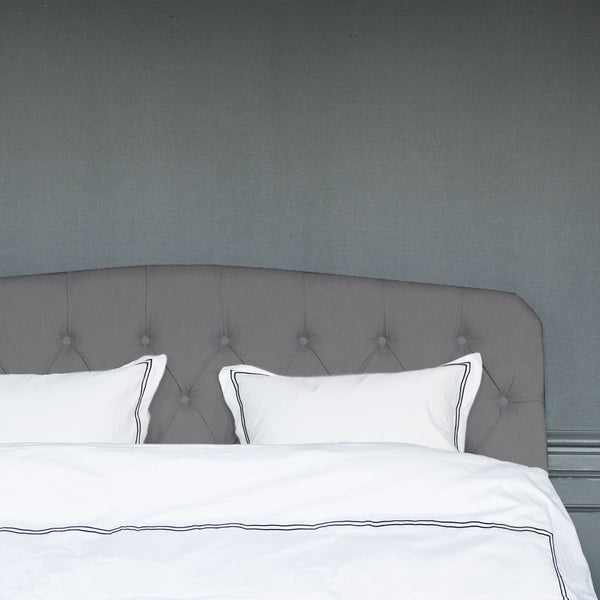 Darling dark grey linen headboard
