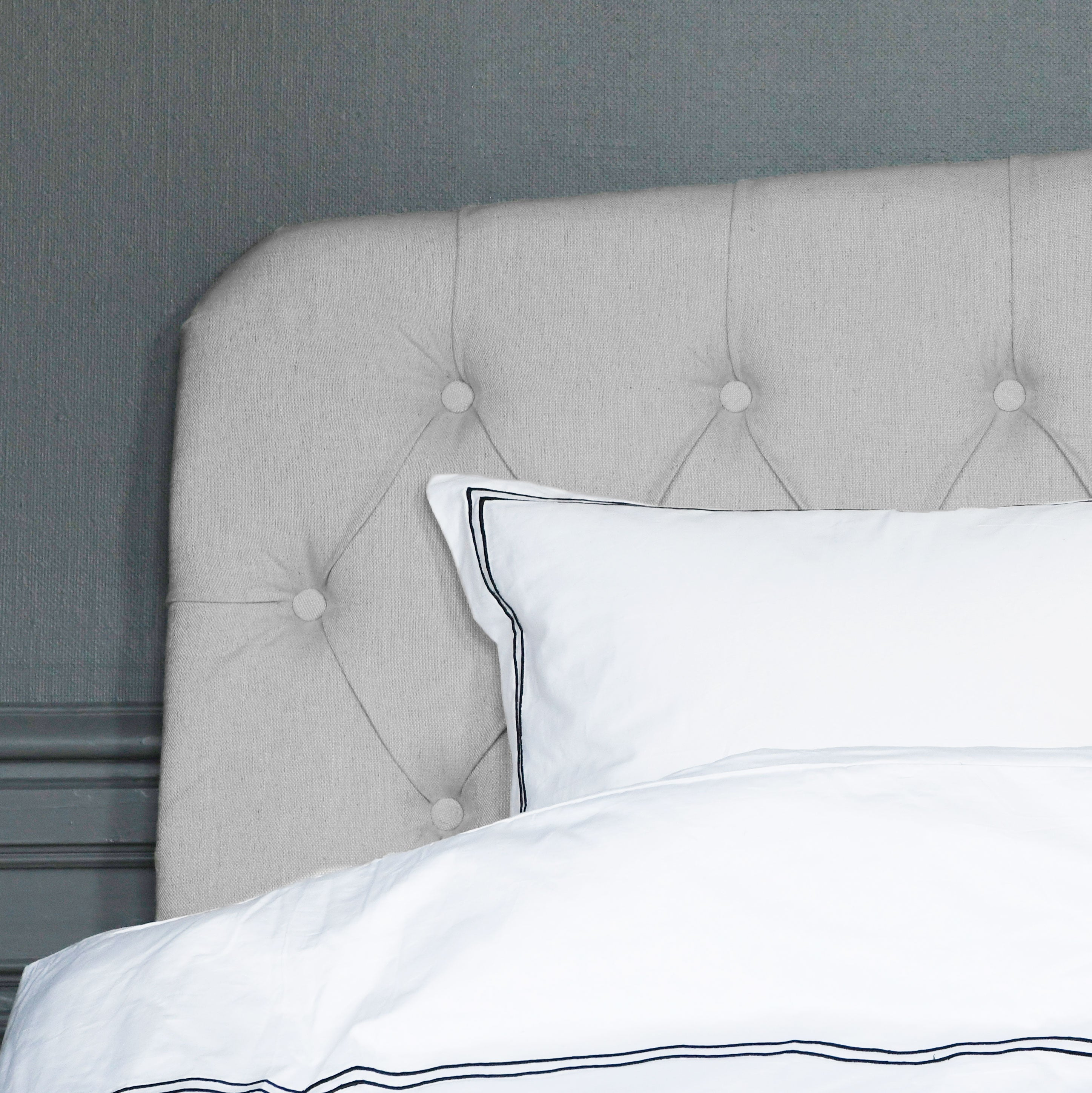 Darling medium grey linen headboard