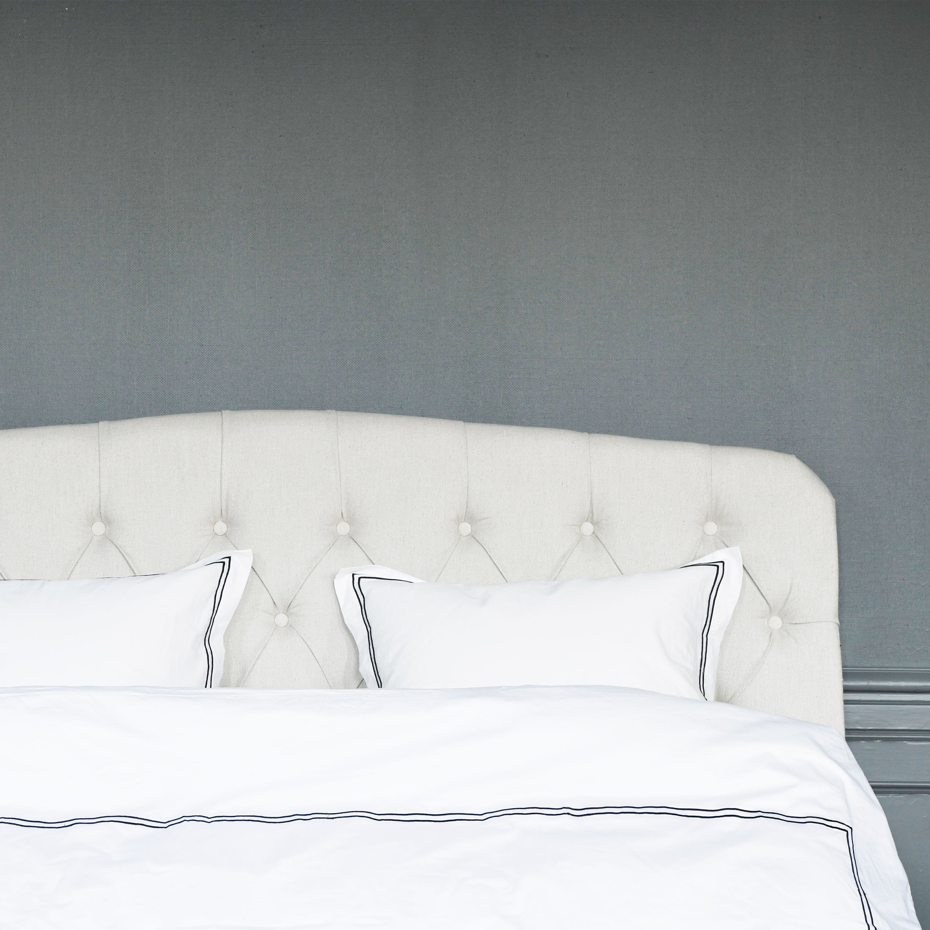 Darling off-white linen headboard