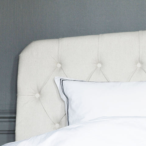 Darling off white linen headboard