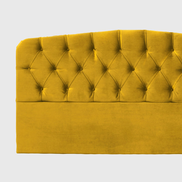Darling amber velvet headboard
