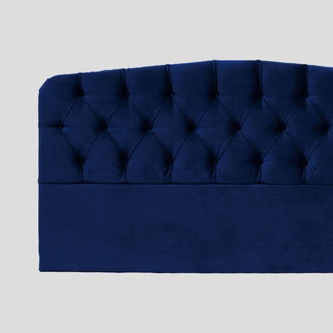 Darling deep blue velvet headboard