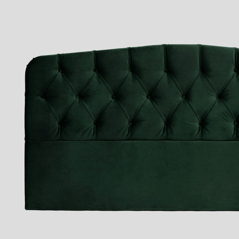 Darling emerald green velvet headboard