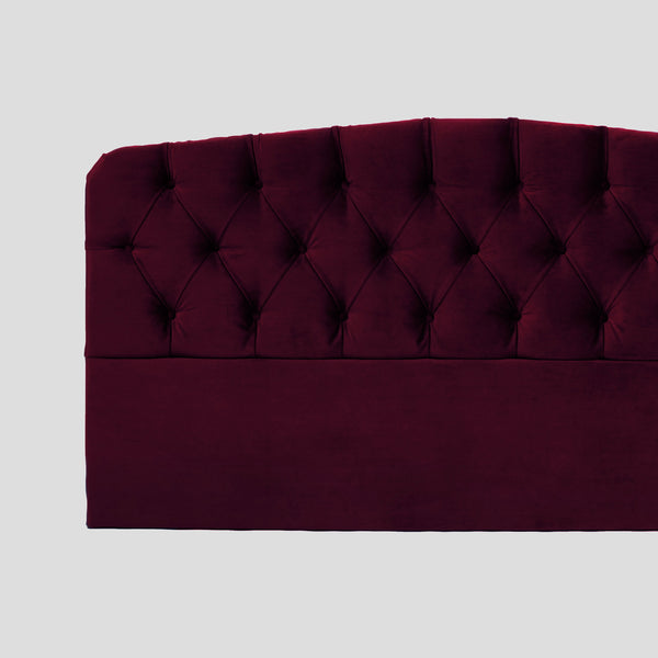 Darling ruby red velvet headboard