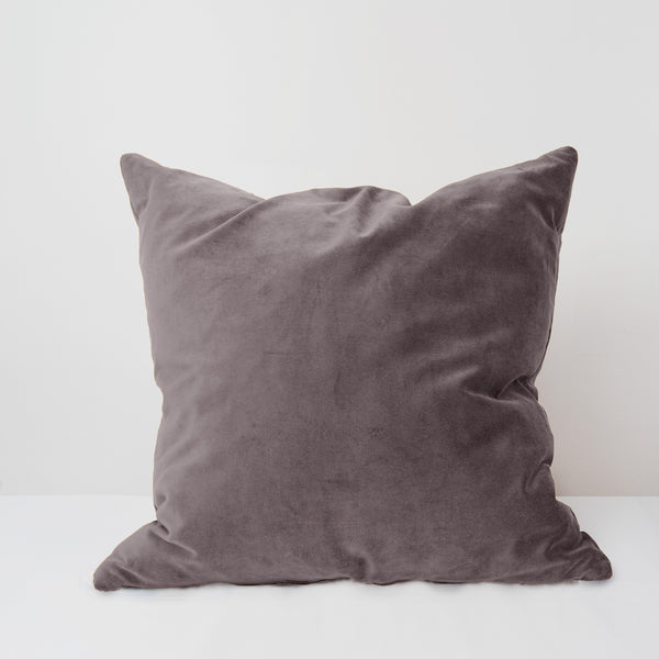 Greige velvet cushion