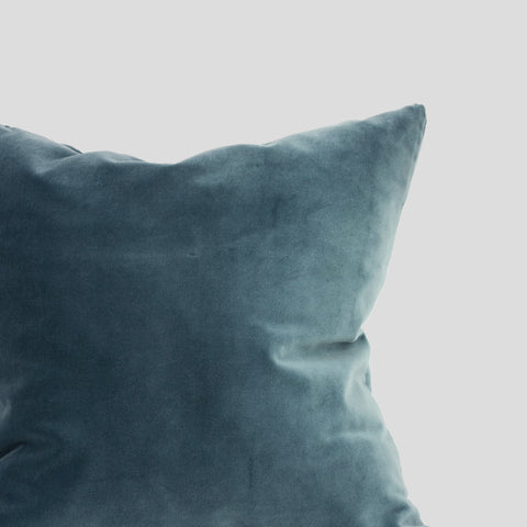 Petrol velvet cushion