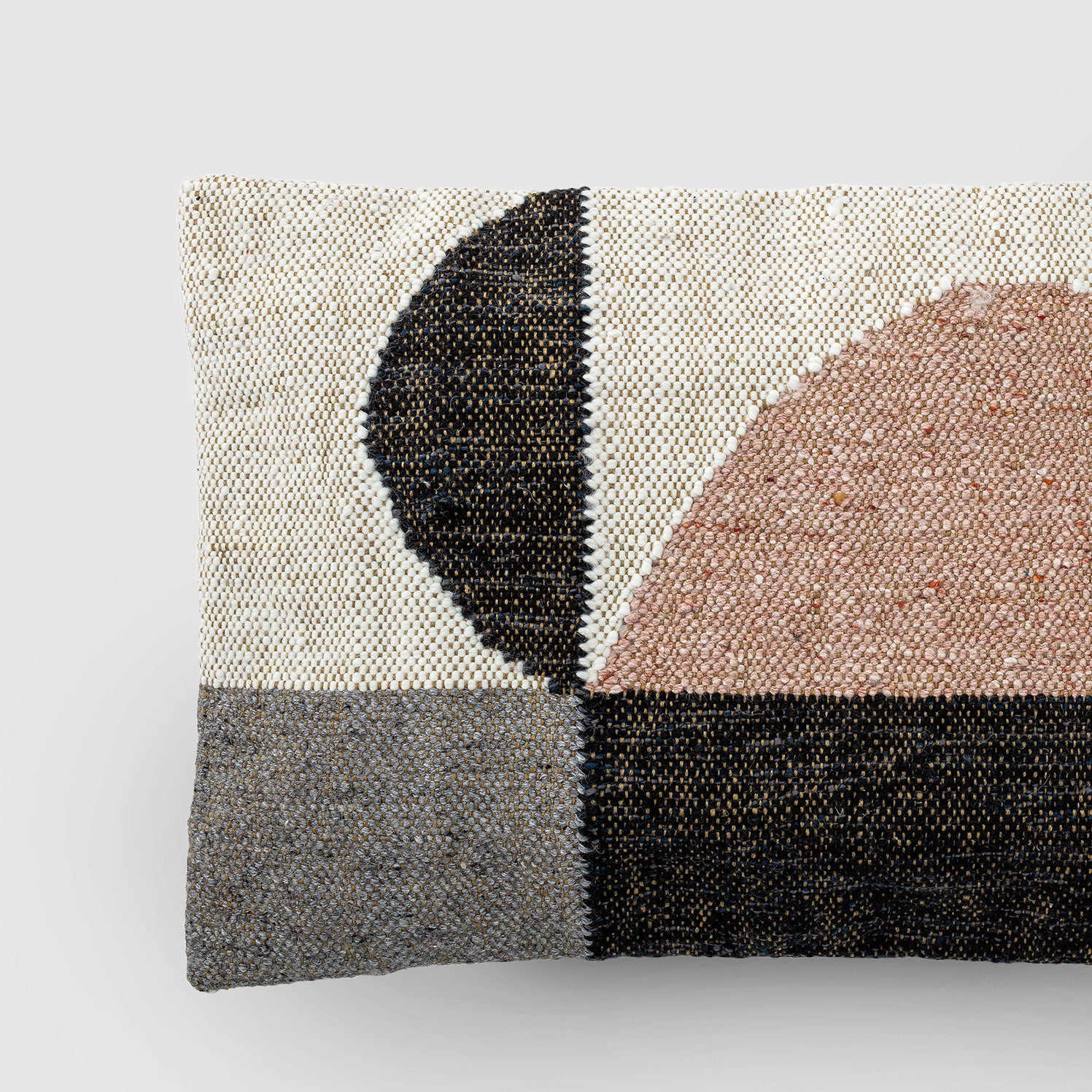 Rectangle woven cotton cushion