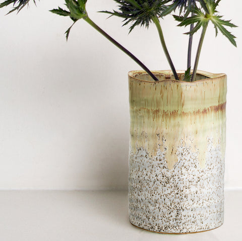 Handmade natural glazed Stoneware vase (only 2 left)