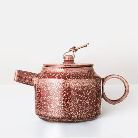 Handcrafted rust red glazed Teapot