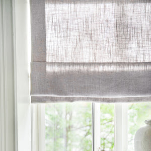 Gotain grey linen roman blinds