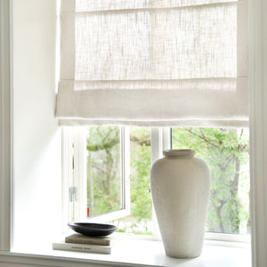 Gotain off-white linen roman blinds