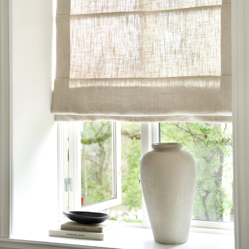 Gotain sand linen roman blinds