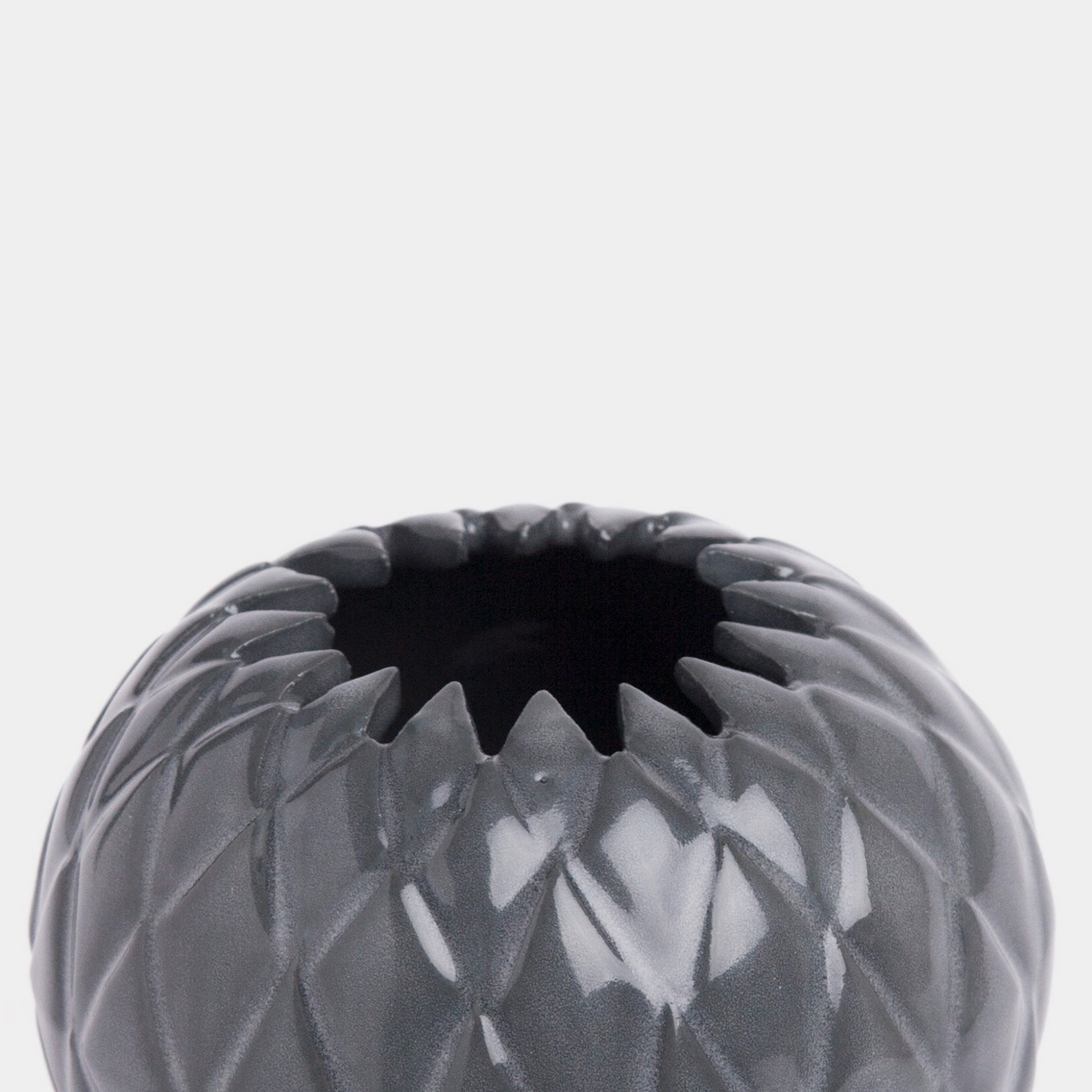 Handmade Thistle bowl in gloss black by Caro Gates