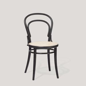 Ton chair 14 black with cane seat