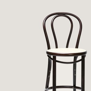 Ton barstool 14 brown with cane seat