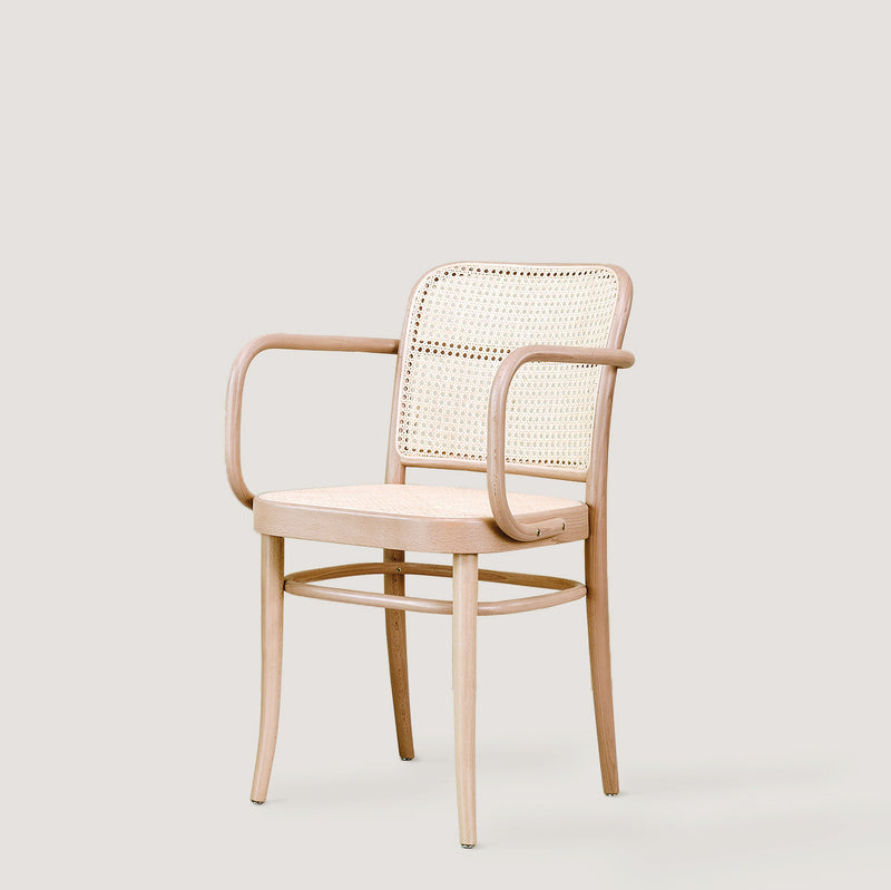 Ton armchair 811 natural with cane