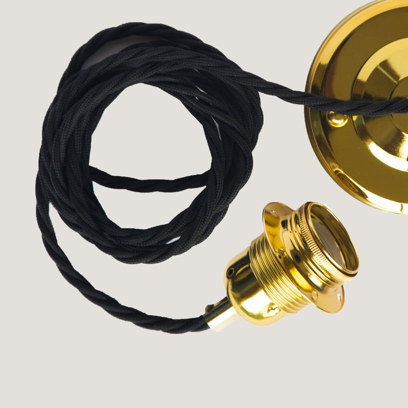 Black and gold Ceiling Rose Set