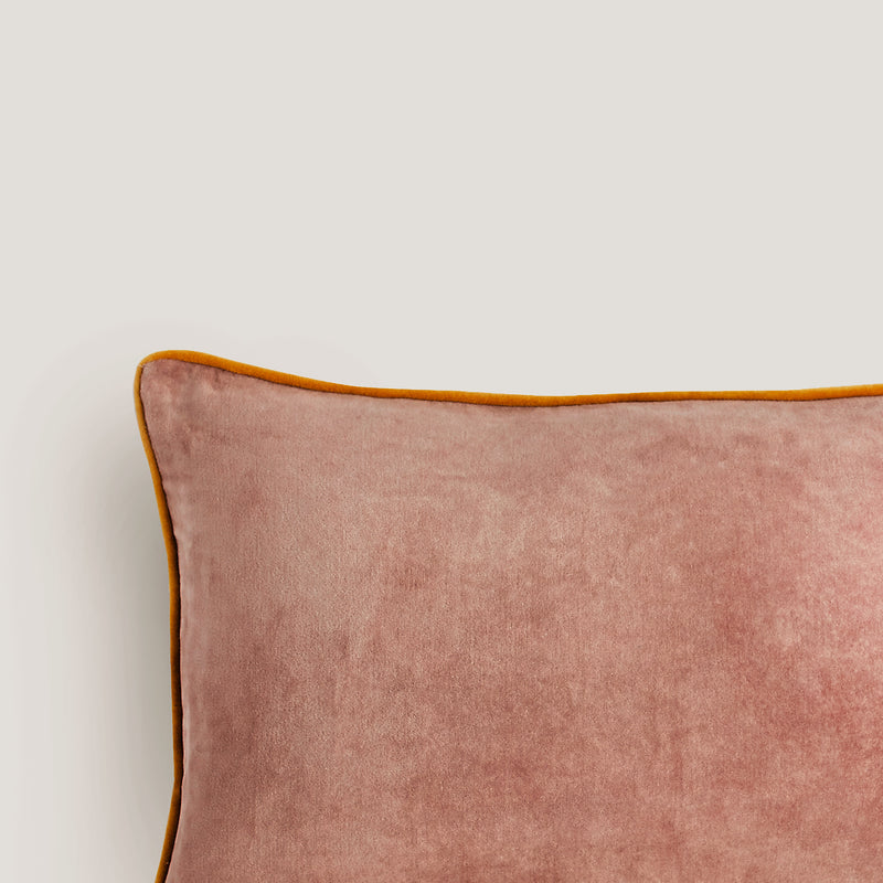 Sametti blush velvet cushion