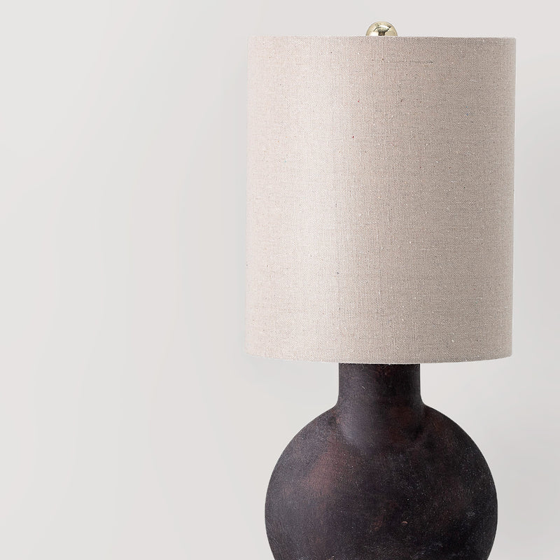Terracotta table lamp with linen lampshade - coming soon