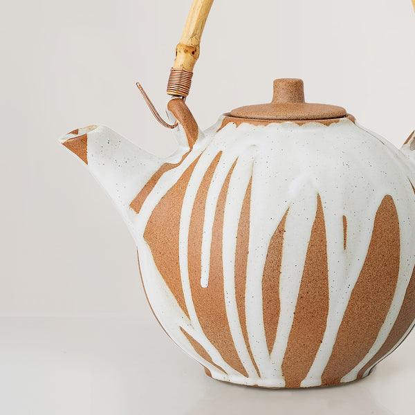 Iris hand painted Teapot with strainer